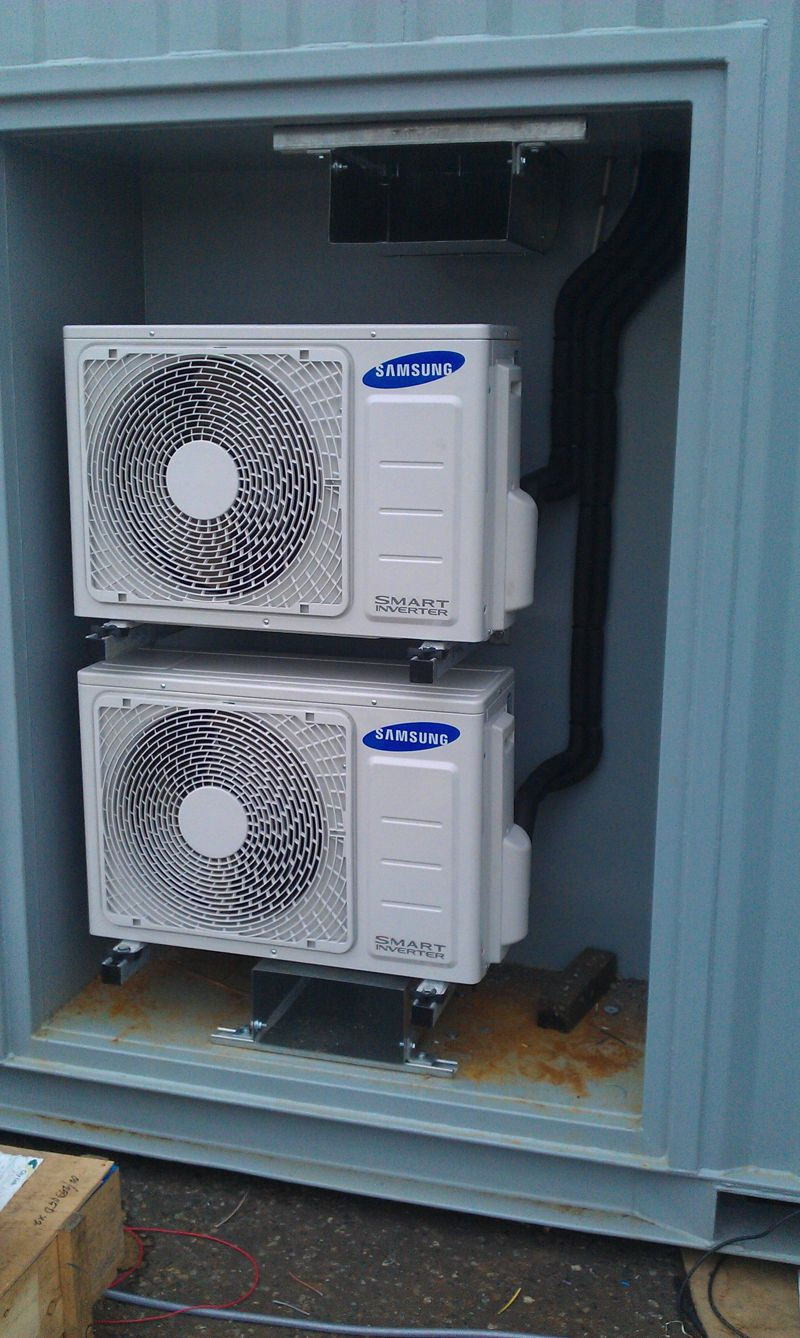 Air Conditioning To A Naval Container Modular Cold Rooms
